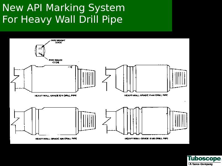 New API Marking System For Heavy Wall Drill Pipe