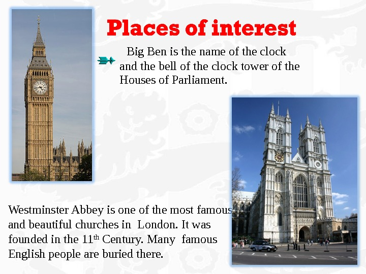 Big Ben is the name of the clock and the bell of the clock tower