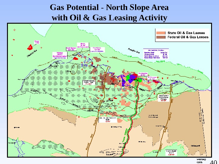 40 Gas Potential - North Slope Area with Oil & Gas Leasing Activity wen/mep 03/05