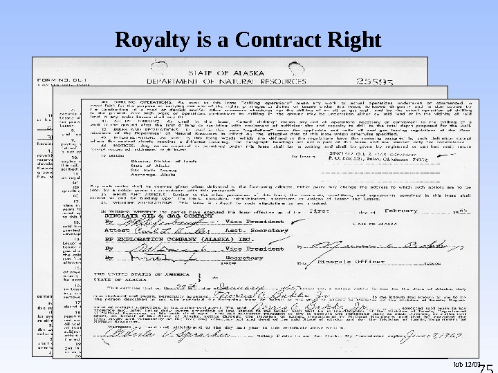 75 Royalty is a Contract Right krb 12/03