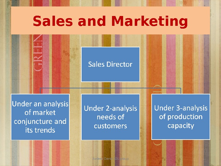 Sales and Marketing Avdeev Denis 201 group