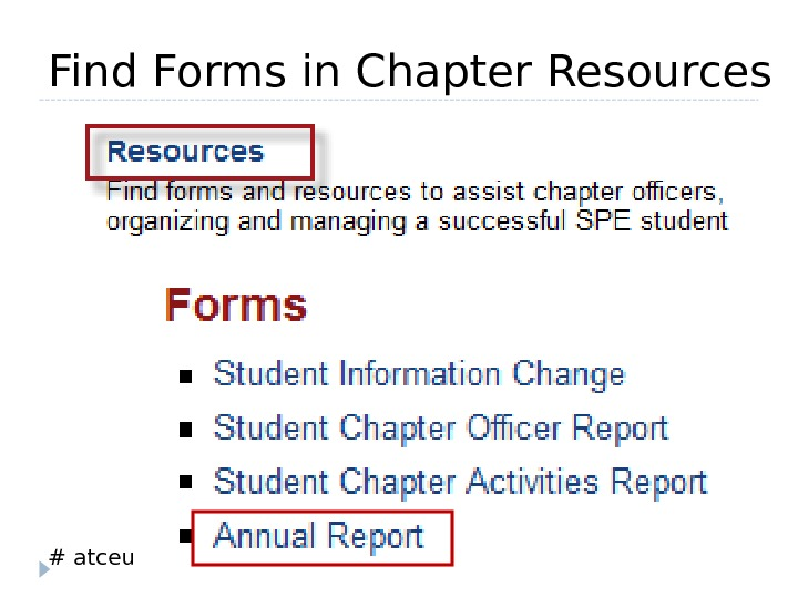 # atceu. Find Forms in Chapter Resources