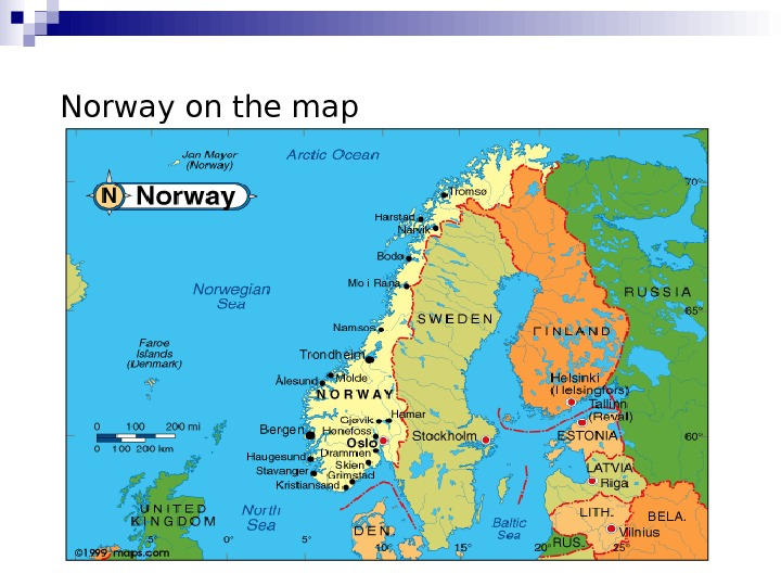 Norway on the map