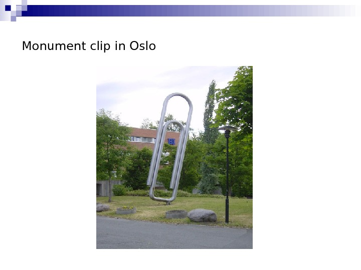Monument clip in Oslo