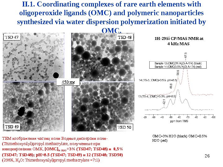 26 II. 1. Coordinating complexes of rare earth elements with  oligoperoxide ligands (OMC)  and