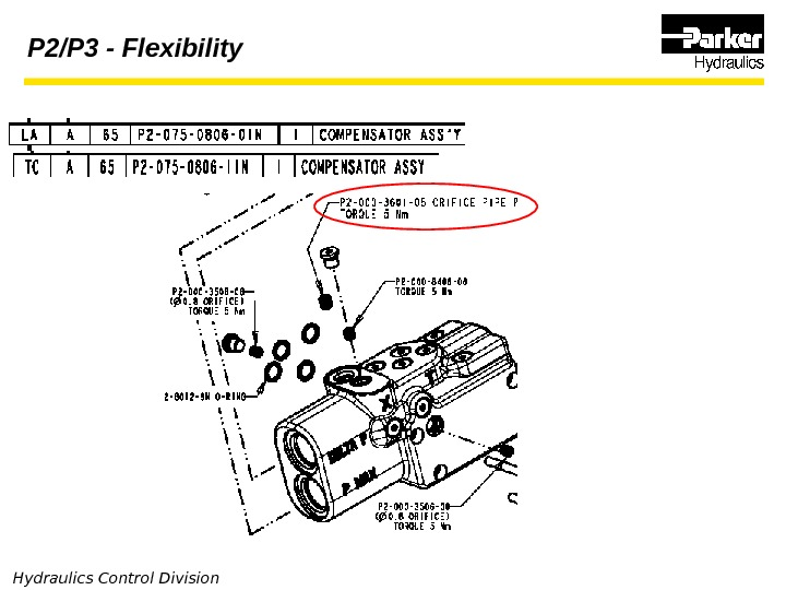 Hydraulics Control Division P 2/P 3 - Flexibility