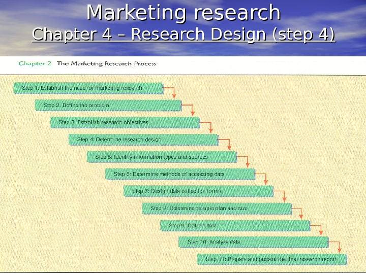 Marketing research Chapter 4 – Research Design (step 4)
