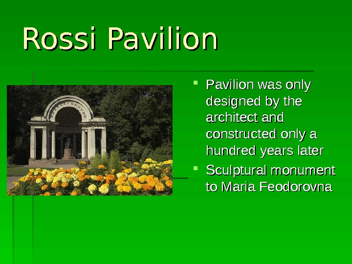 Rossi Pavilion PP avilion was only  designed by the architect and  constructed