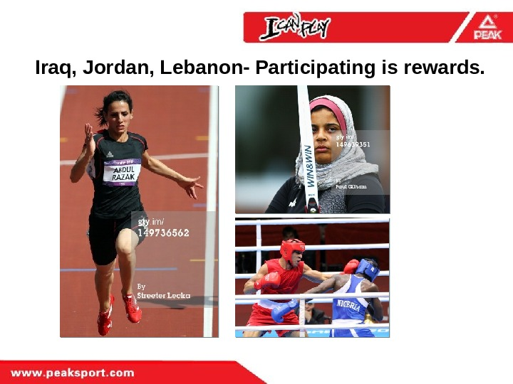 Iraq, Jordan, Lebanon- Participating is rewards.