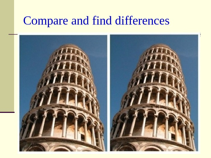 Compare and find differences