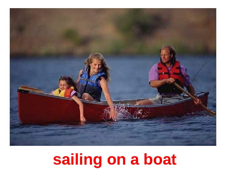 sailing on a boat