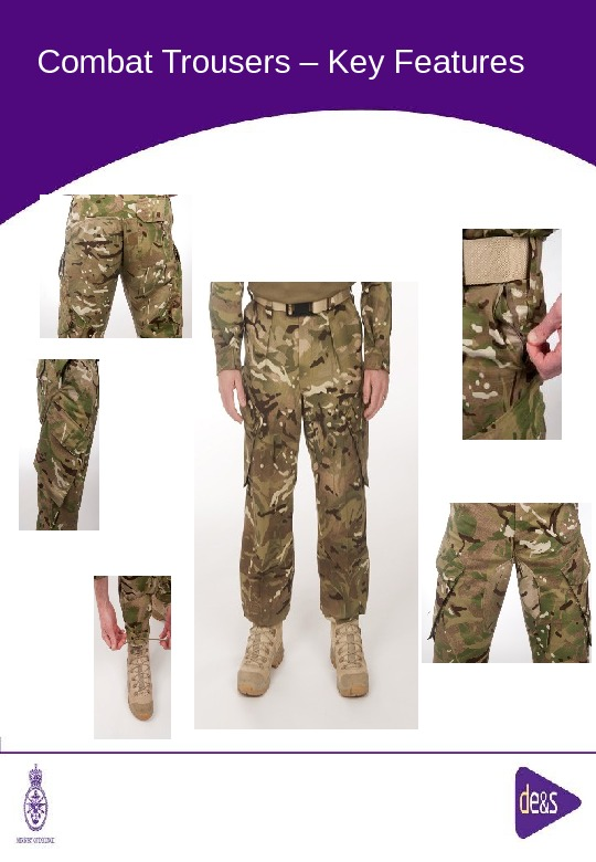 The Defence Clothing Team. Combat Trousers – Key Features