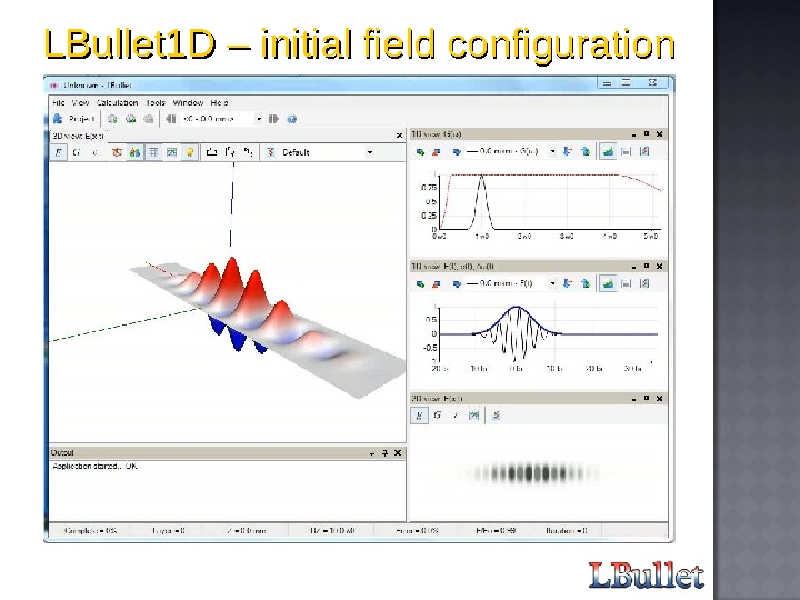 LBullet 1 D – initial field configuration