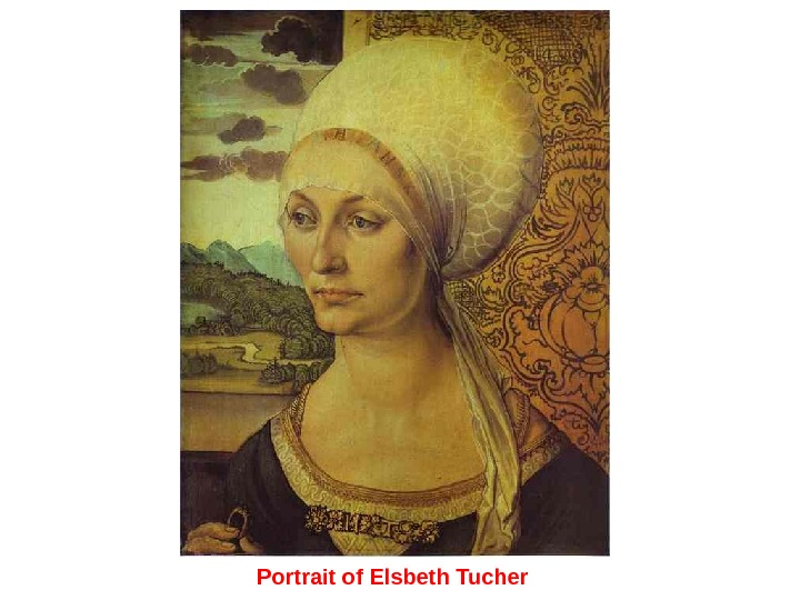 Portrait of Elsbeth Tucher