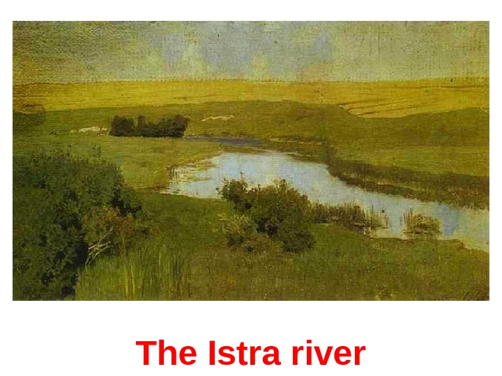 The Istra river