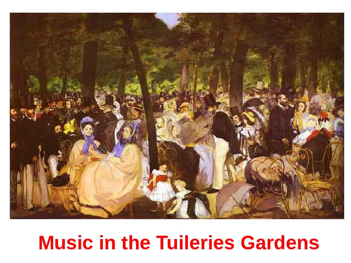 Music in the Tuileries Gardens