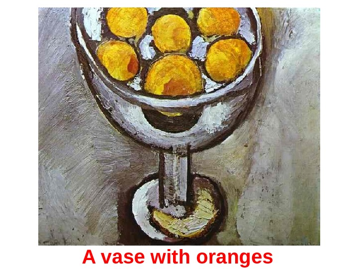 A vase with o ranges