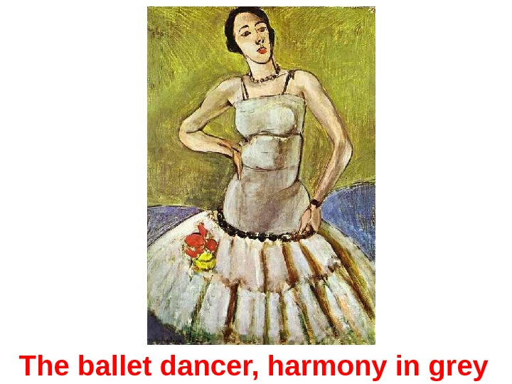The ballet dancer, harmony in grey