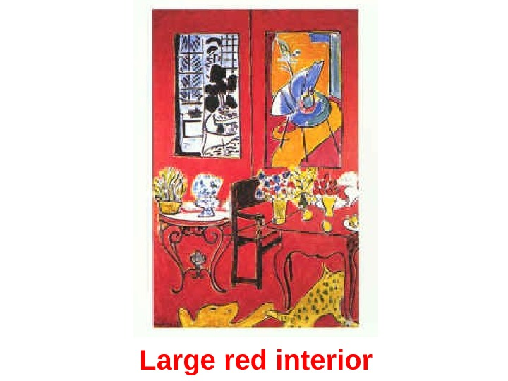 Large red interior