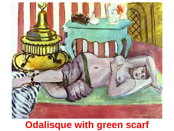 Odalisque with g reen s carf