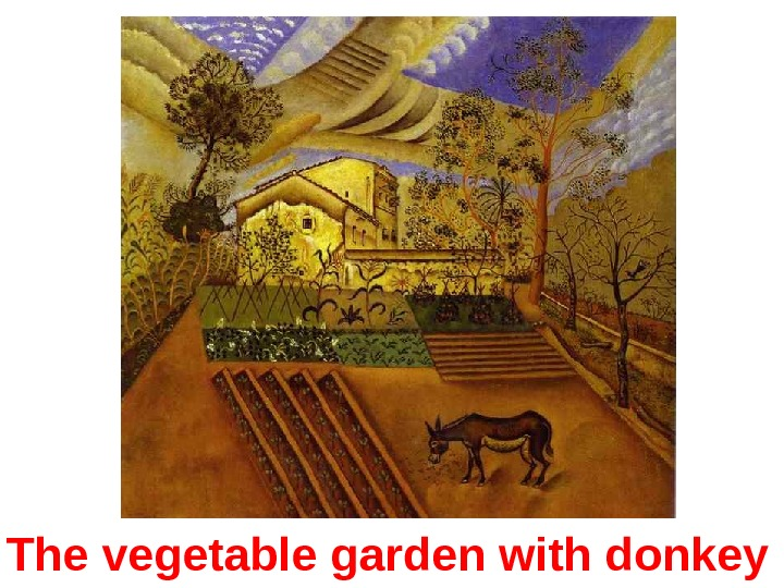 The vegetable garden with donkey