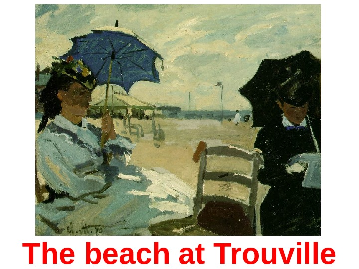 The b each at Trouville