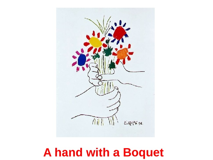 A hand with a Boquet