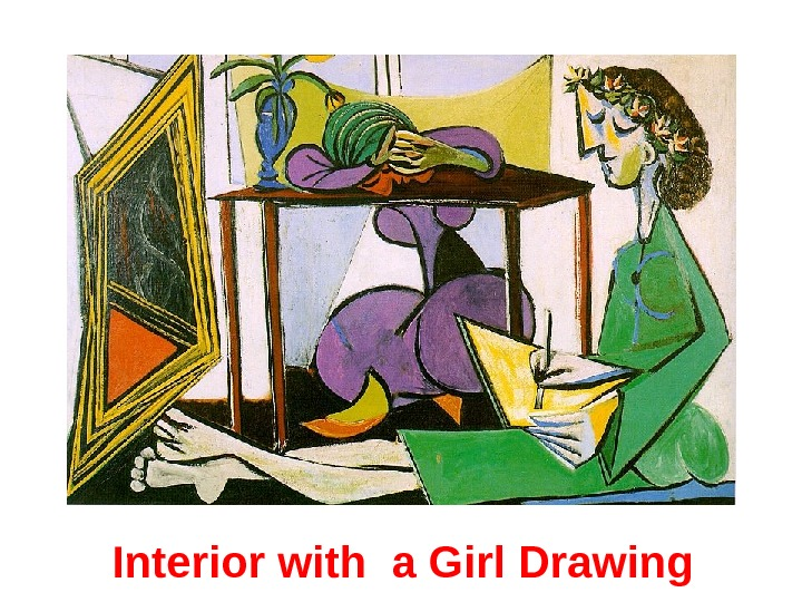 Interior with a Girl Drawing
