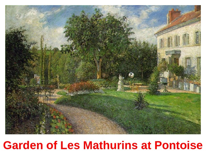 Garden of Les Mathurins at Pontoise