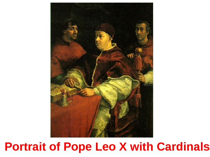 Portrait of Pope Leo X with Cardinals