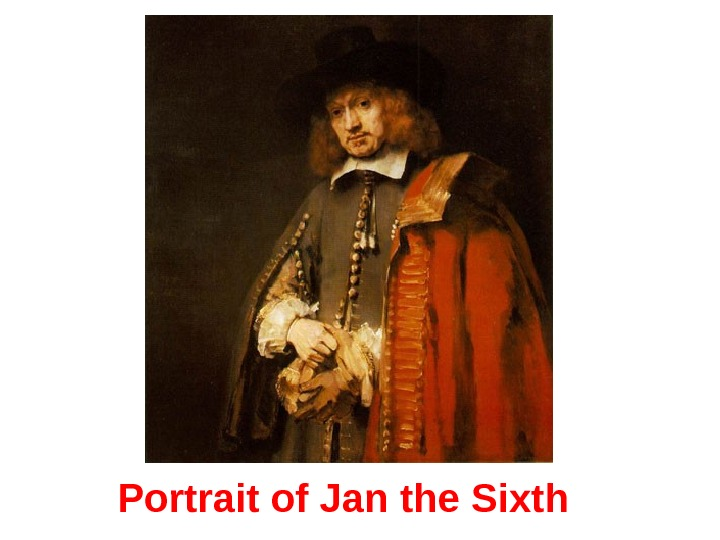 Portrait of Jan the Si xth