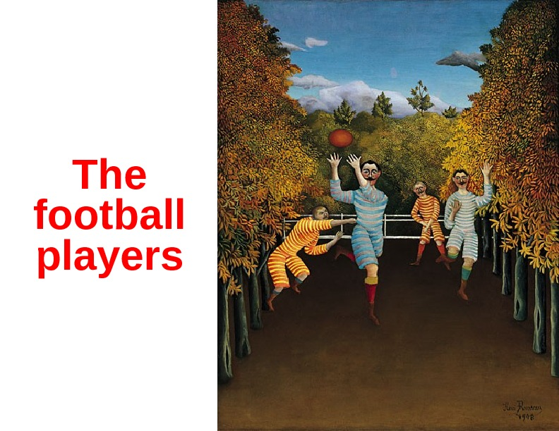 The football players