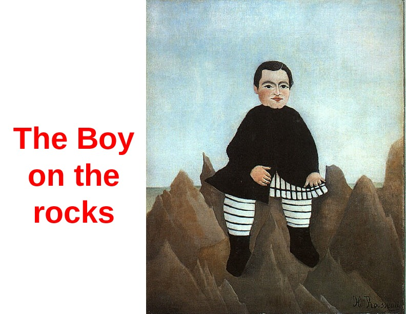 The Boy on the rocks
