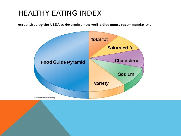 HEALTHY EATING INDEX established by the USDA to determine how well a diet meets recommendations Food