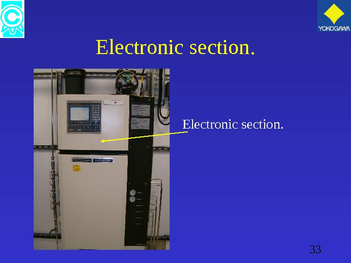 33 Electronic section.
