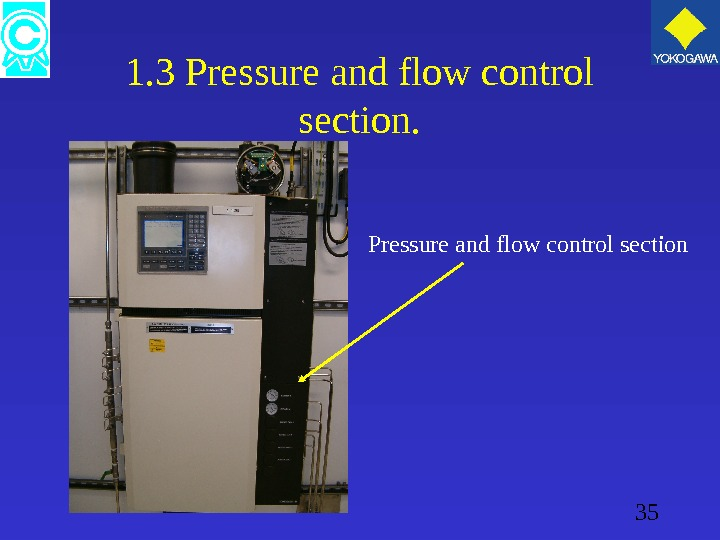 35 1. 3 Pressure and flow control section