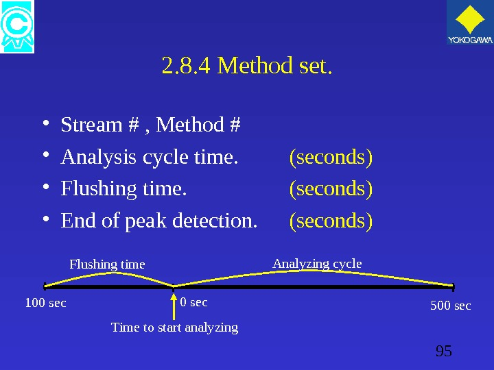 95 2. 8. 4 Method set.  • Stream # , Method # • Analysis cycle