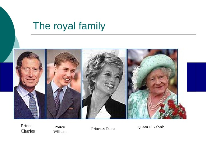 The royal family       Prince Charles  Prince William