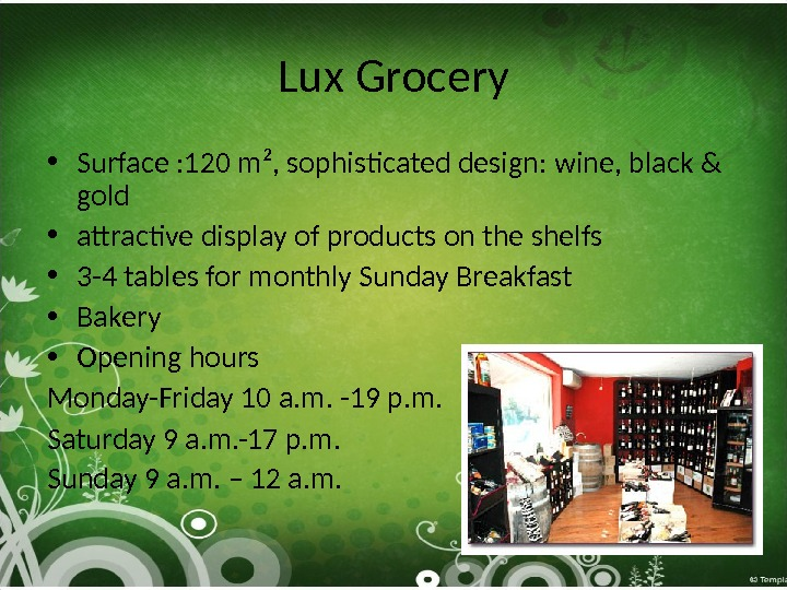 Lux Grocery • S urface : 120 m², sophisticated design:  wine , black &