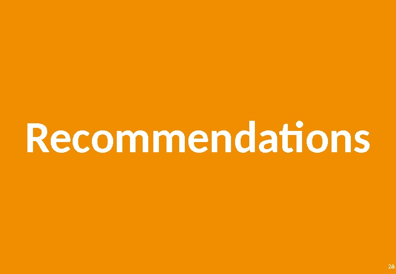 28 Recommendations