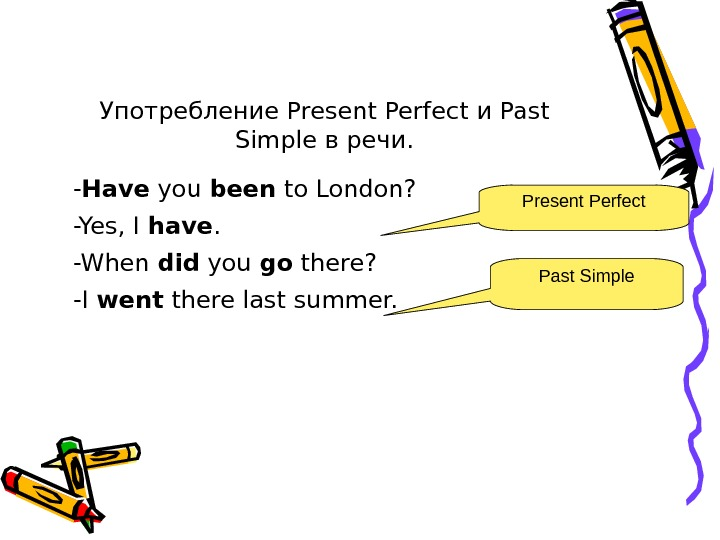 Употребление Present Perfect и Past Simple в речи. - Have you been to London?