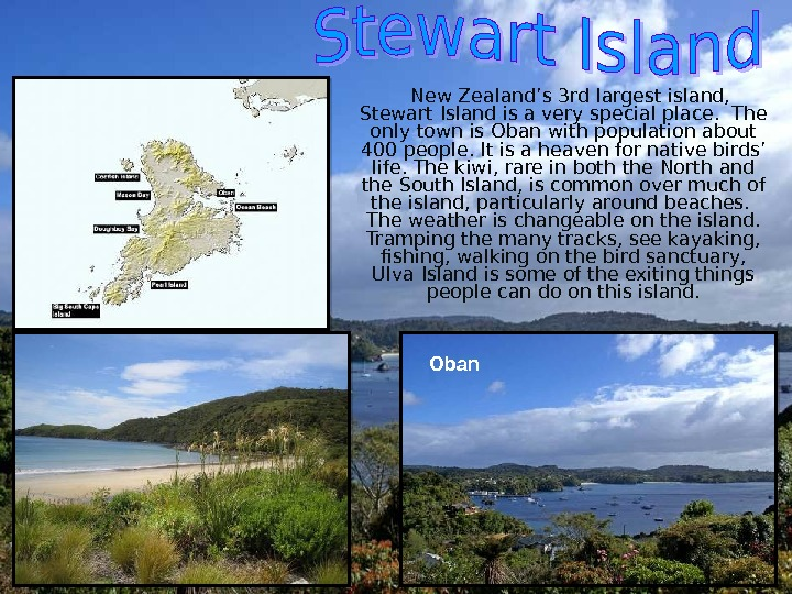 New Zealand's 3 rd largest island,  Stewart Island is a very special place.