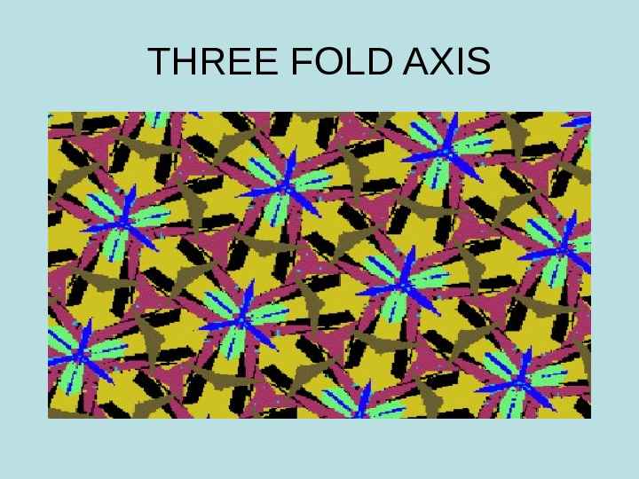 THREE FOLD AXIS