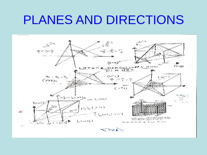 PLANES AND DIRECTIONS