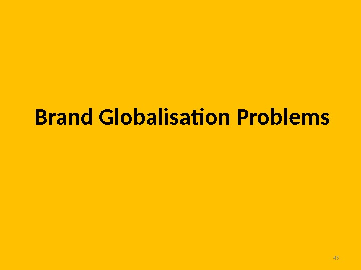 45 Brand Globalisation Problems