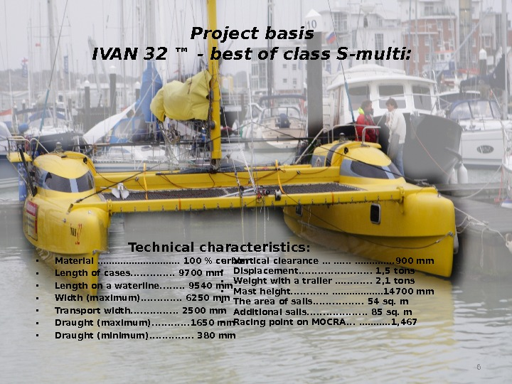 Project basis IVAN 32 ™ - best of class S-multi:  • Material ……………. . 100