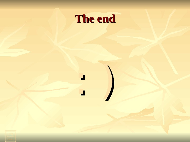 The end : ): )