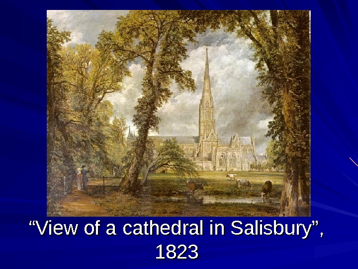 """"" View of a cathedral in Salisbury"",  1823"
