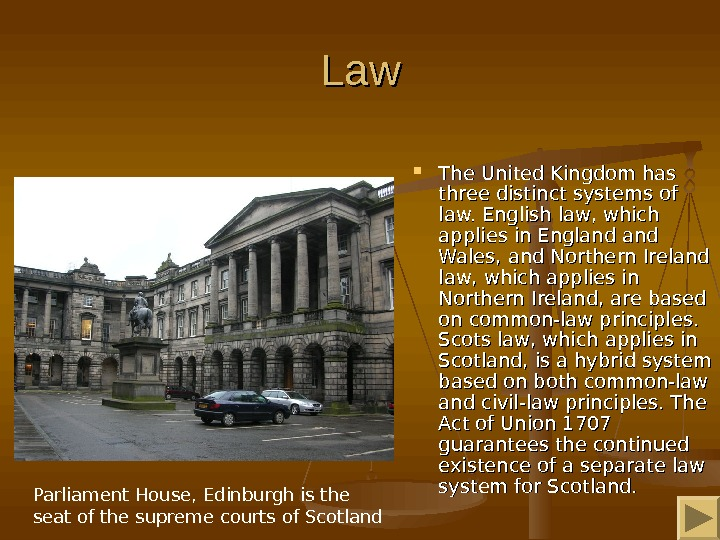 Law. Law The United Kingdom has three distinct systems of law. English law, which applies in