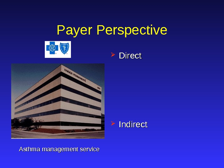 Payer Perspective Direct Indirect Asthma management service